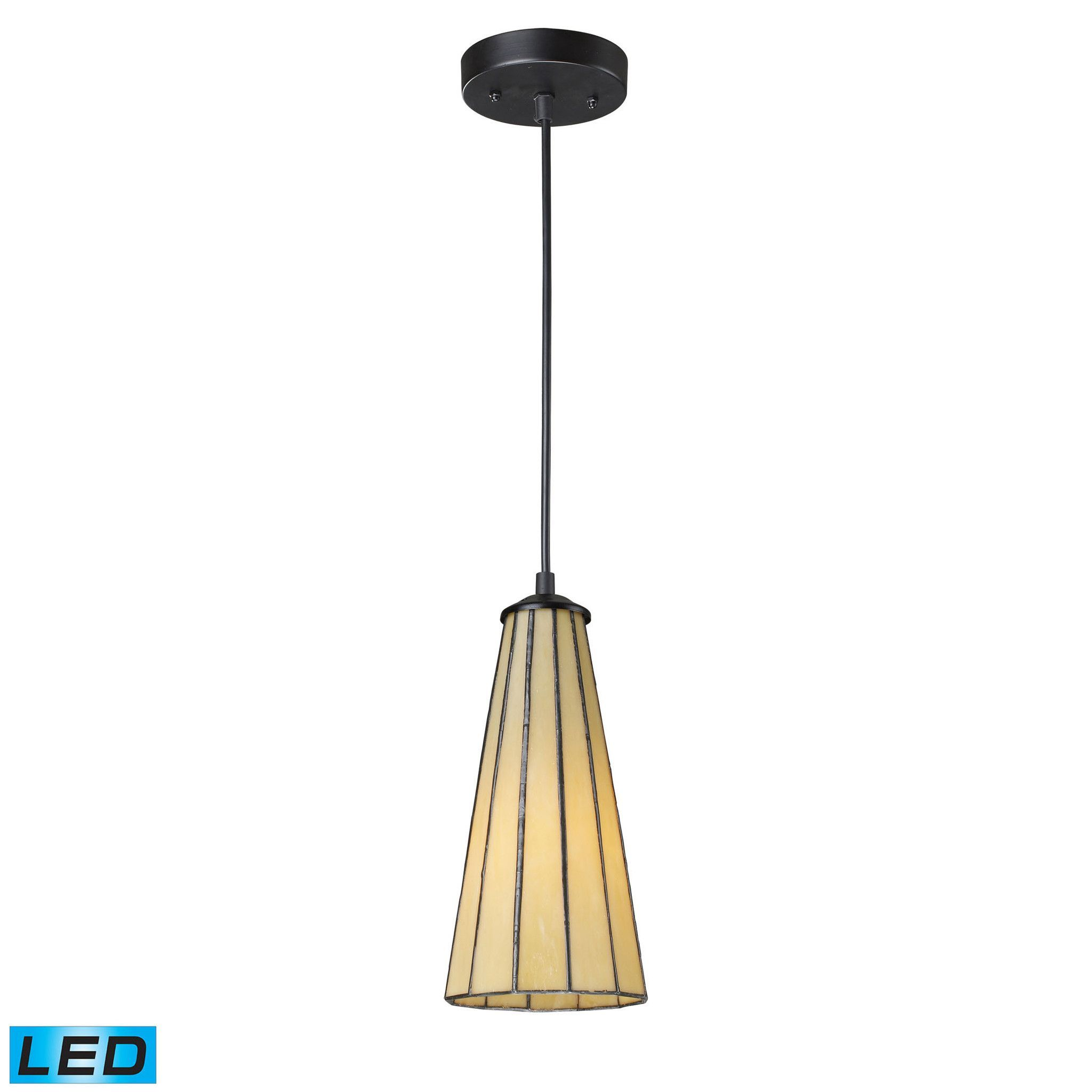 Elk lighting 70000 1hb led lumino collection hazy beigematte black elk lumino 1 light led pendant in matte black and hazy beige pendant item number aloadofball Image collections