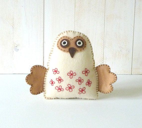 Woodland Owl Stuffed Animal PATTERN // Sew by Hand Felt Softie // PDF // Plush Owl Pattern on Etsy, $4.42 AUD