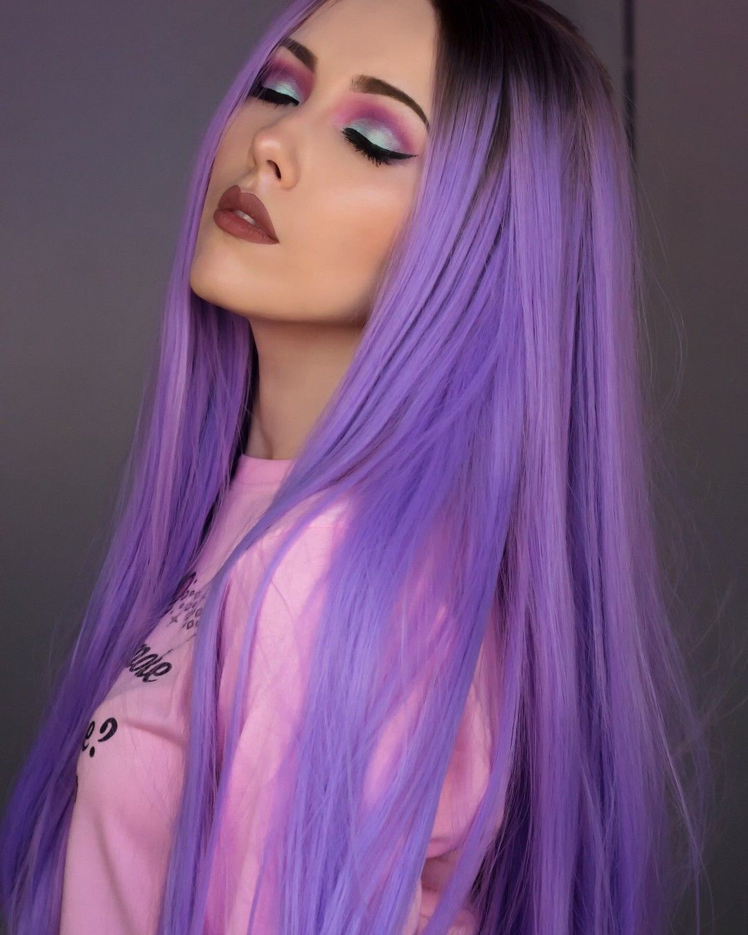 purple hair style purple hair hair colors hair coloring wig 2569