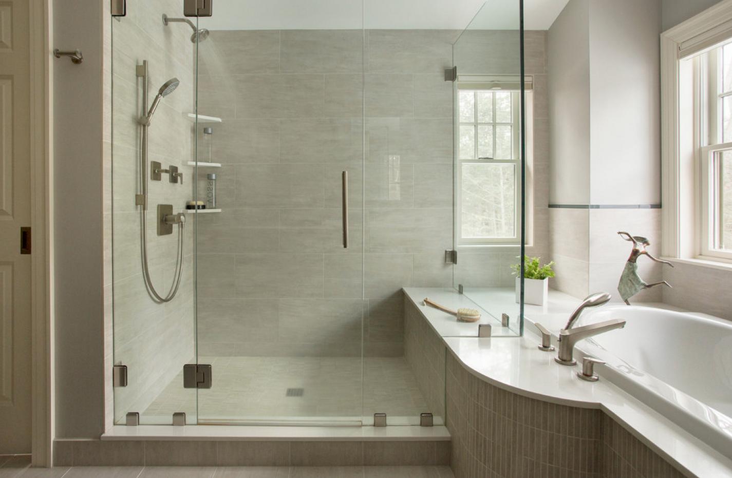 Guest Bathroom Colors - Houzz: 1939 Brick Colonial (Eric Roth ... on white bathrooms houzz, small bathrooms houzz, master bathrooms houzz, guest bathrooms pinterest, guest bathrooms home, gray bathrooms houzz,