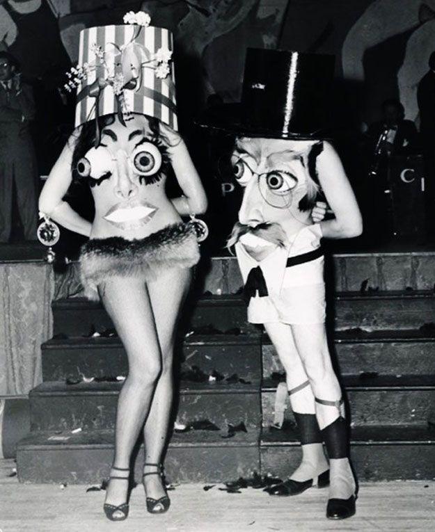 Los disfraces de Halloween de antaño eran espeluznantes