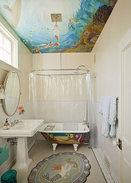 eclectic kids bathroom go under the sea with an ocean life motif rh pinterest com