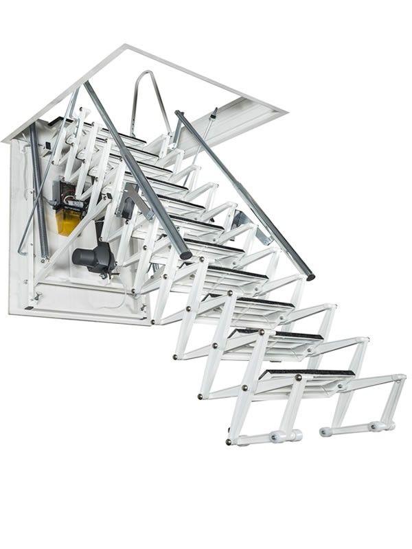 electric scissor loft ladder zoom plus with remote control
