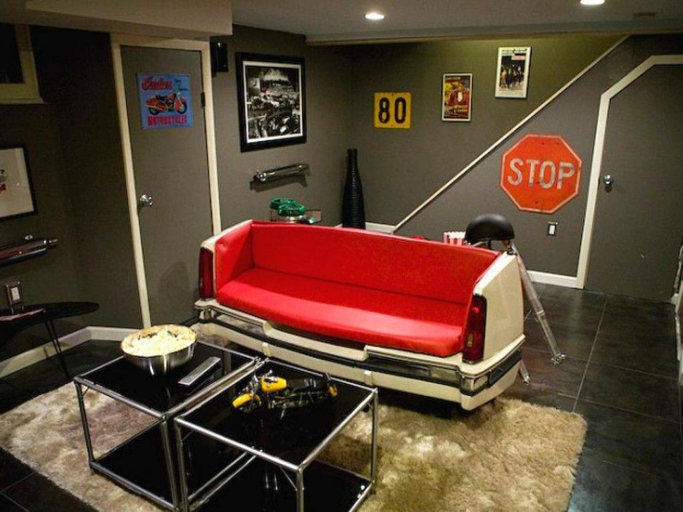 interior dazzling basement man cave decorations grey painted wall rh pinterest com