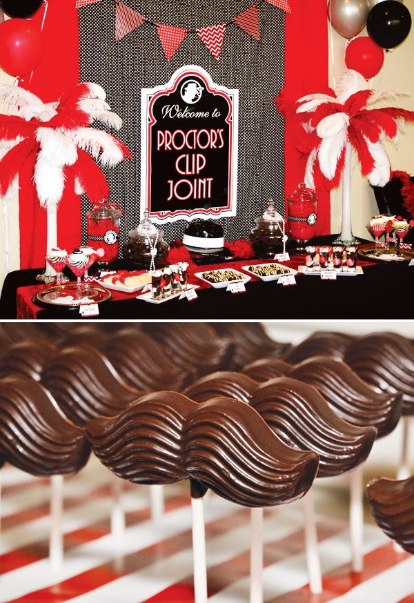 Roaring past 30 39 s gangster party adult birthday for 1920 party decoration ideas