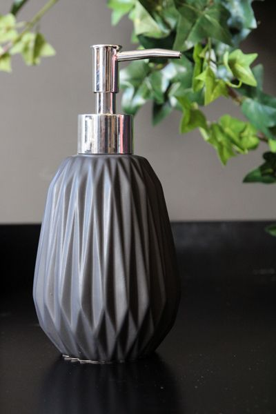 Geometric Soap Dispenser, Black