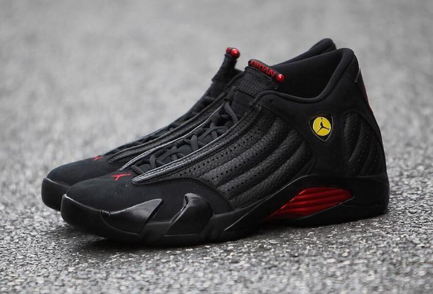7ee691ae70de Air Jordan 14 Last Shot Color  Black Varsity Red-Black Style Code  487471- 003 Release Date  June 14