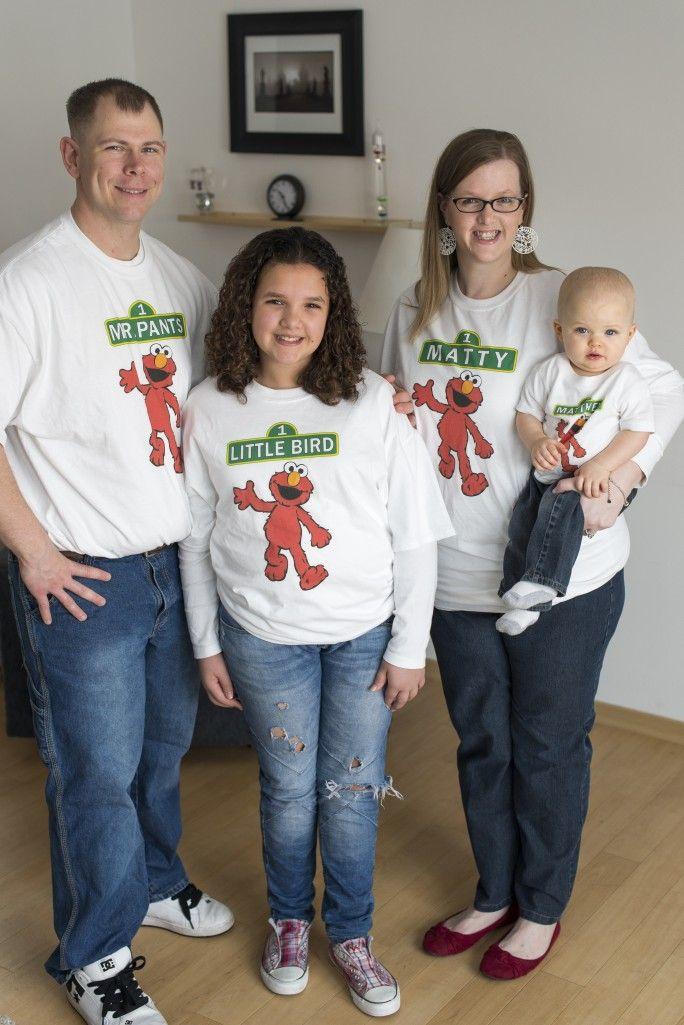 Happy 1st Birthday Matthew! Family birthday shirts, Elmo