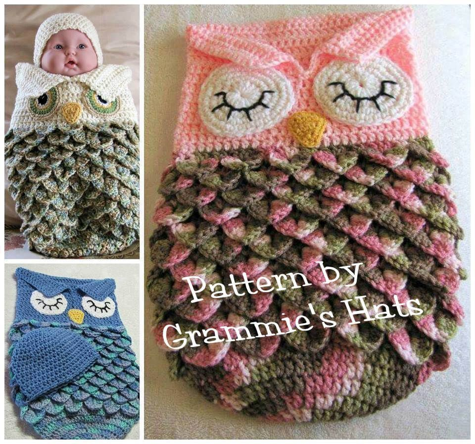Baby owl cocoon and cap pattern | crochet oooh yeah | Pinterest