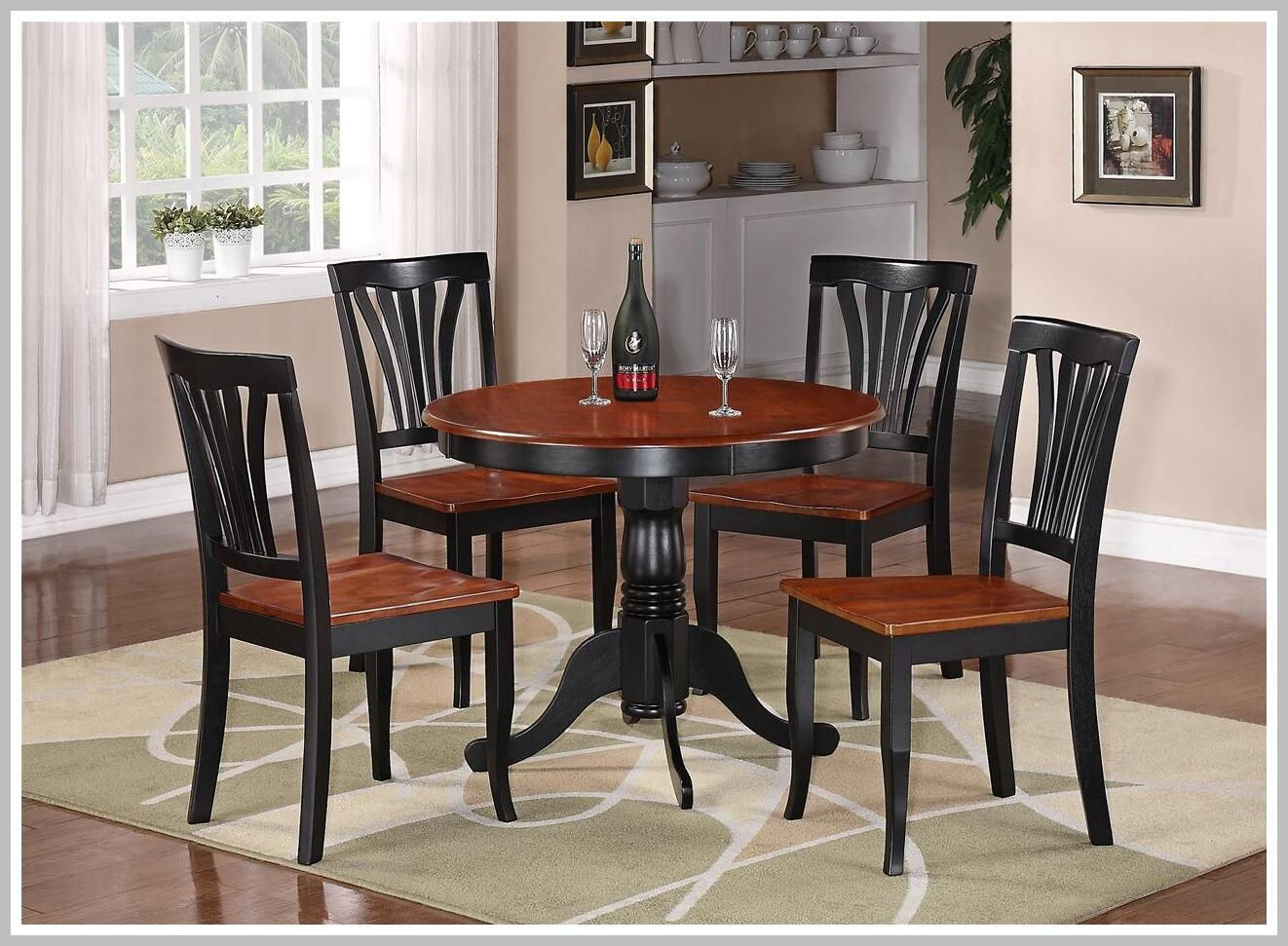 95 Reference Of Dining Table Chairs White And Brown Round Kitchen Table Set Cherry Kitchen Table Kitchen Table Settings