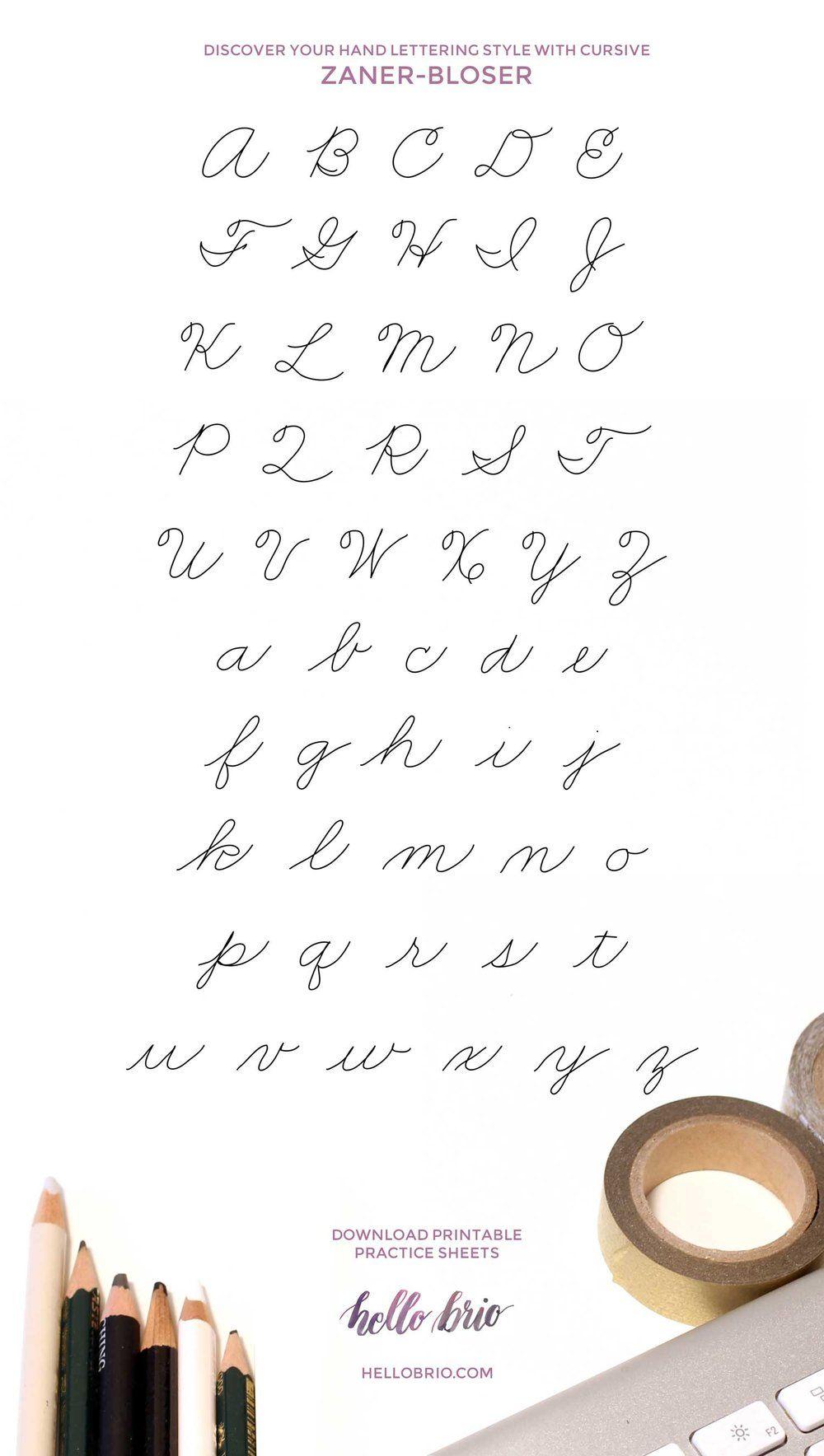 Types Of Cursive Writing To Practice Lettering League Estilos De Escritura A Mano Estilos De Letras Escritura A Mano Bonita