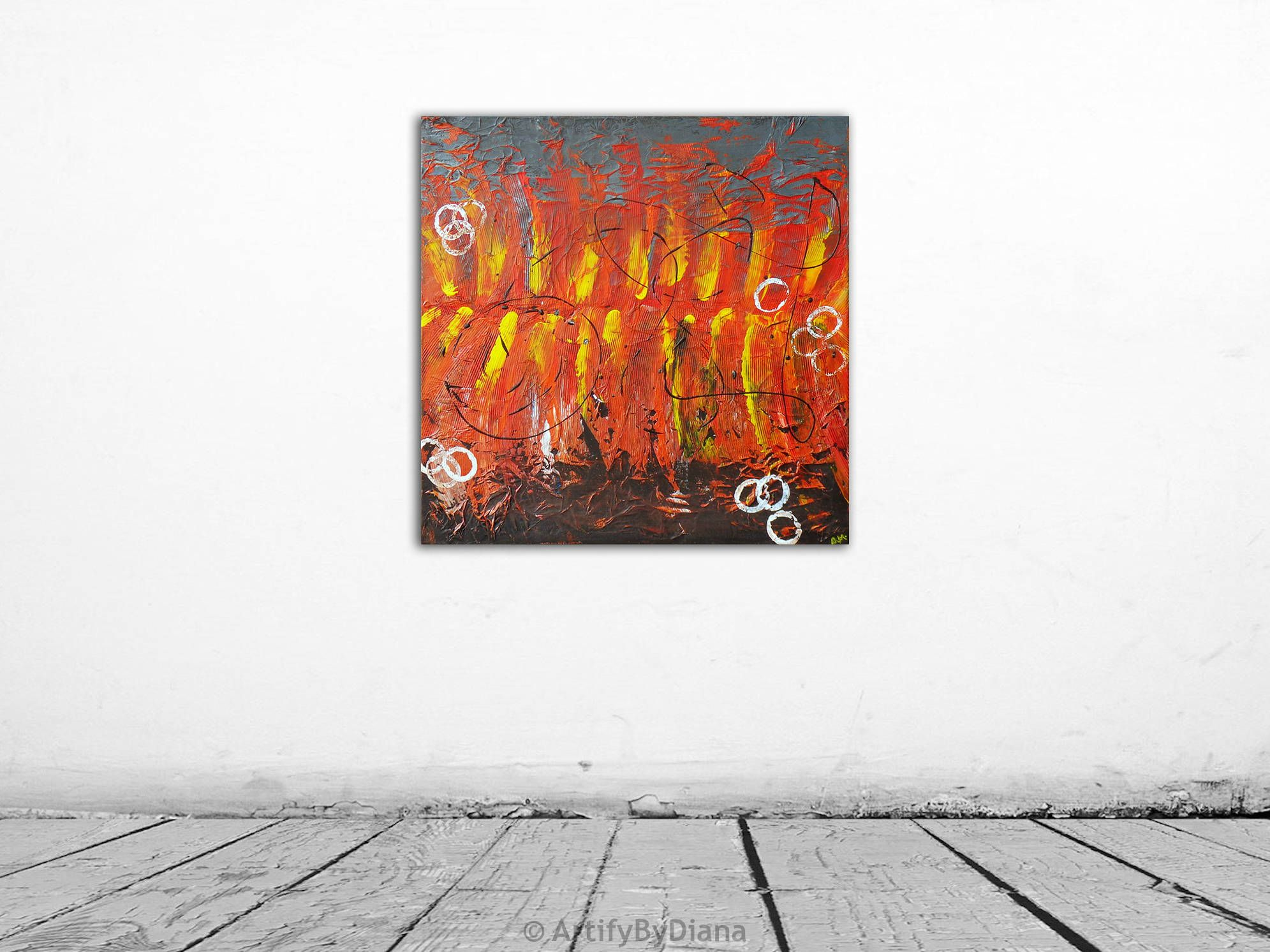 Inferno Texture Painting Abstract painting