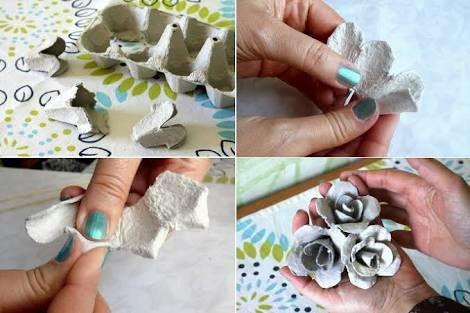 Haz Hermosas Flores De Cartón De Huevo Facil Caixas De Ovos Flores Artesanato Arte Com Caixas De Ovos