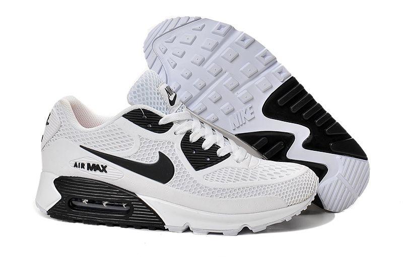 Discount 228742 Nike Air Max 90 Men Black White Green Shoes