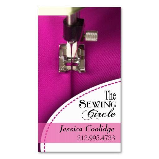 Sewing Dressmaker Tailor Designer Seamstress Business Card