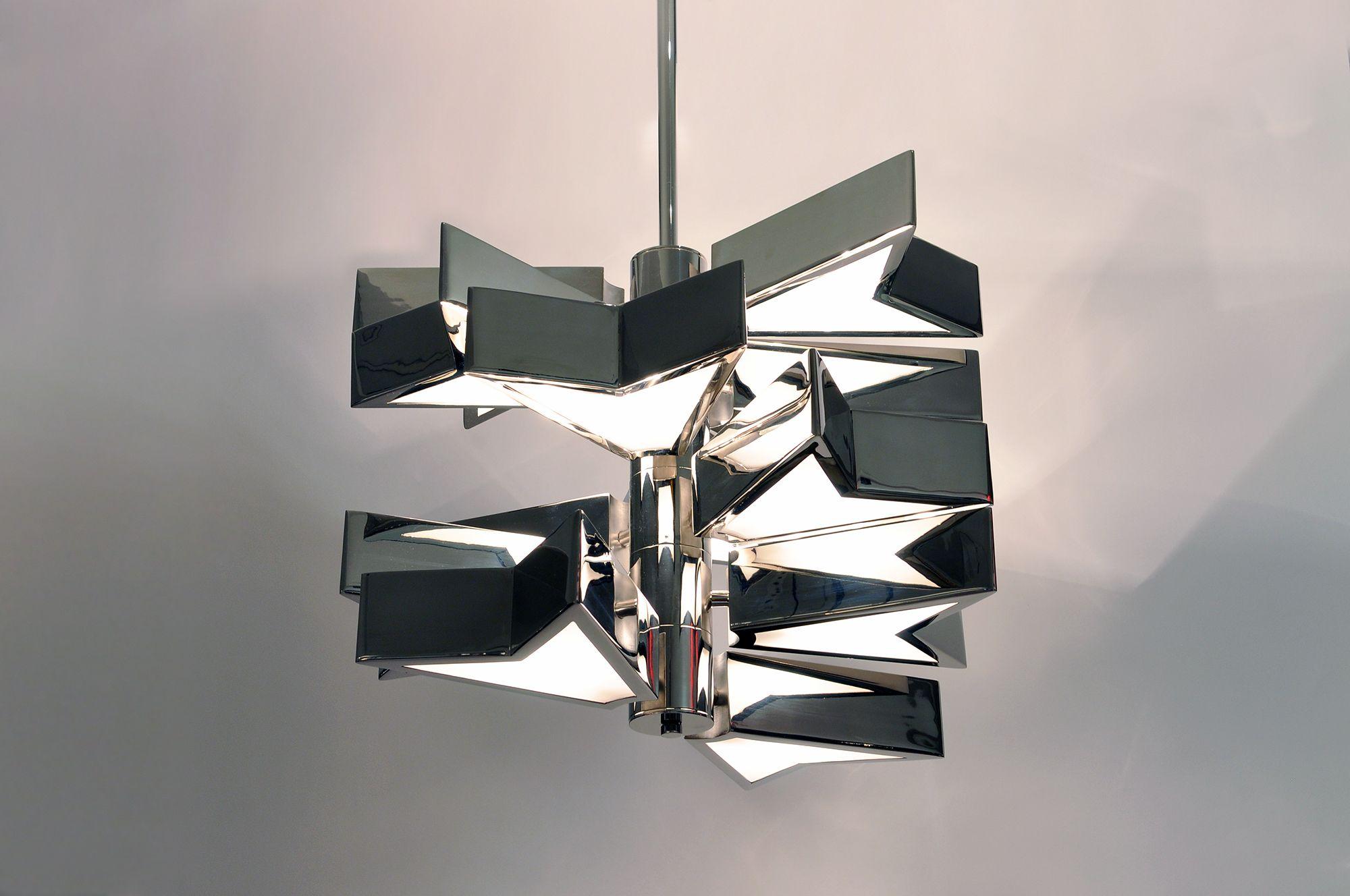 Osiris Chandelier | Matthew Fairbank Design #lighting #lightingdesign #bespoke #madeinbrooklyn #madeinnyc #interiordesign #design