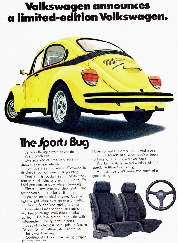 1973 volkswagen beetle advertisement luv the vw bugs rh pinterest com