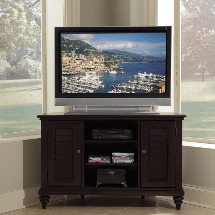 Bermuda Corner Tv Stand At Brookstone Buy Now Corner Tv Stand