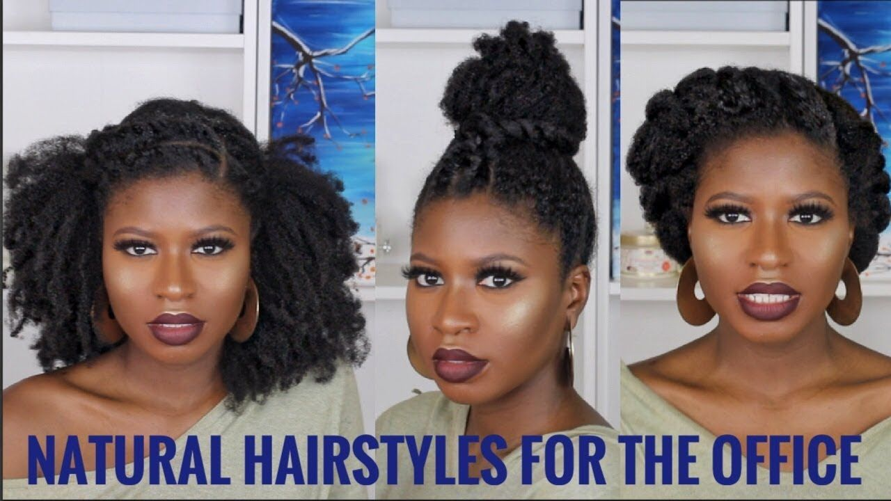 3 Super Quick Easy Natural Hairstyles For Work Type 4a 4b 4c Ft African Pride Moisture Collecti Natural Hair Styles Easy Natural Hair Styles Work Hairstyles