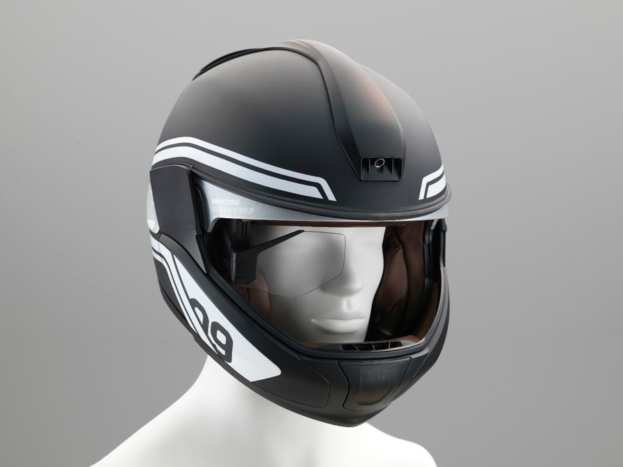 bmw shows motorcycle helmet head up display and laser light concepts rh pinterest com