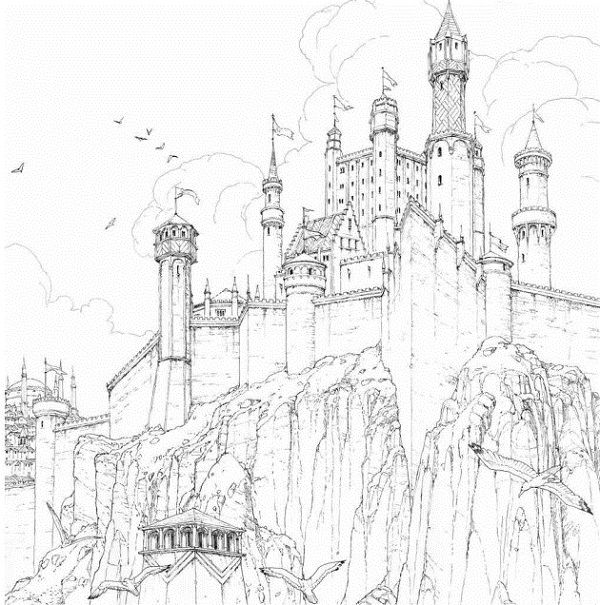 Take A Peek Inside The Official Game Of Thrones Coloring Book