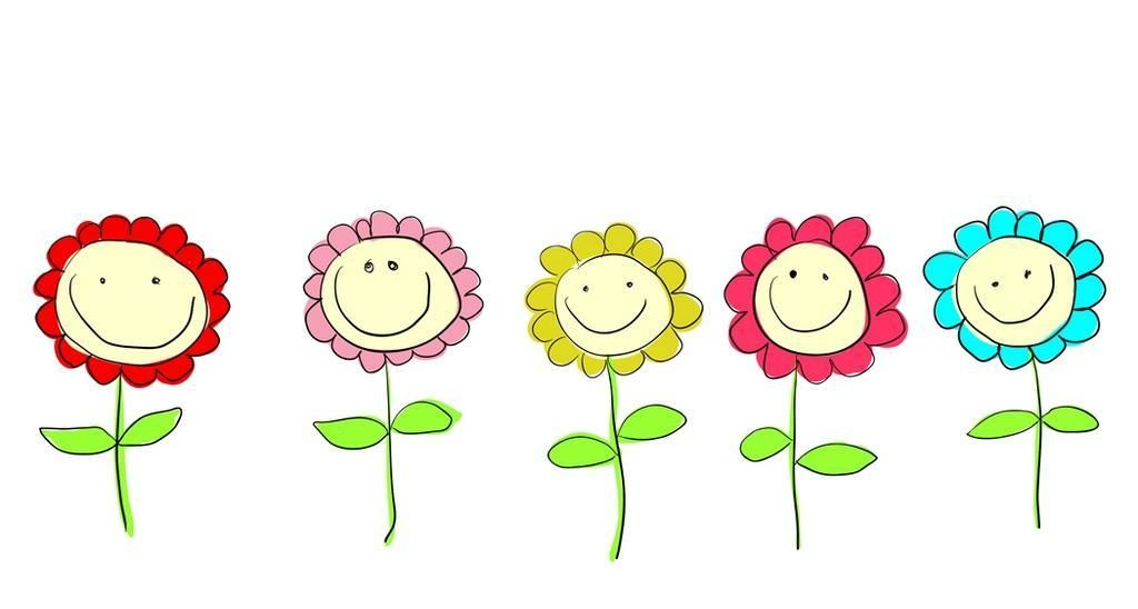 """Cute Rainbow Flowers Say: """"smile all the time, even on those days when you want to shoot in your enemies' head"""""""