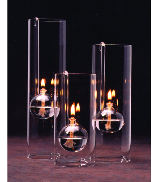 Chimney Lamps Handblown Glass Oil Lamp Northwest Glass Designs Oil Lamps Oil Lamp Centerpiece Oil Candles
