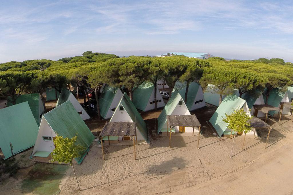 Barracas en el Camping Doñana Playa de Mazagon (Huelva)