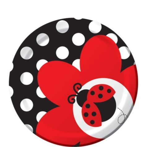 Fancy Ladybug 1st Birthday Dessert Plates 8ct - Party City - Love Bug theme for Camille's first birthday?