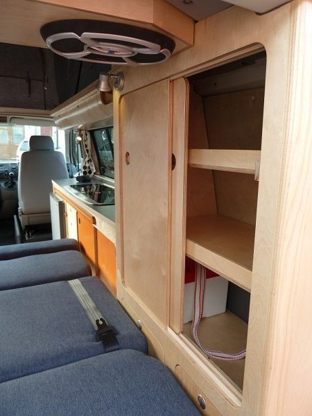 Photo of Elfa – 4 berth LWB camper, 2007 1.9 T5, 20″ wheels, 12volt only fridge, solar pannel, SCA elevating roof with bed on rams, Propex heater, additional draw unit, removable rock and roll bed | Cambee
