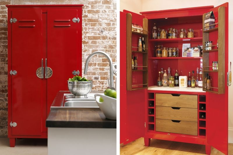 kitchen pantry cupboards free standing storage cabinets. Black Bedroom Furniture Sets. Home Design Ideas