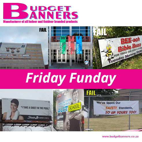 Some things should really be left to the professionals… #FridayFunday http://www.budgetbanners.co.za/