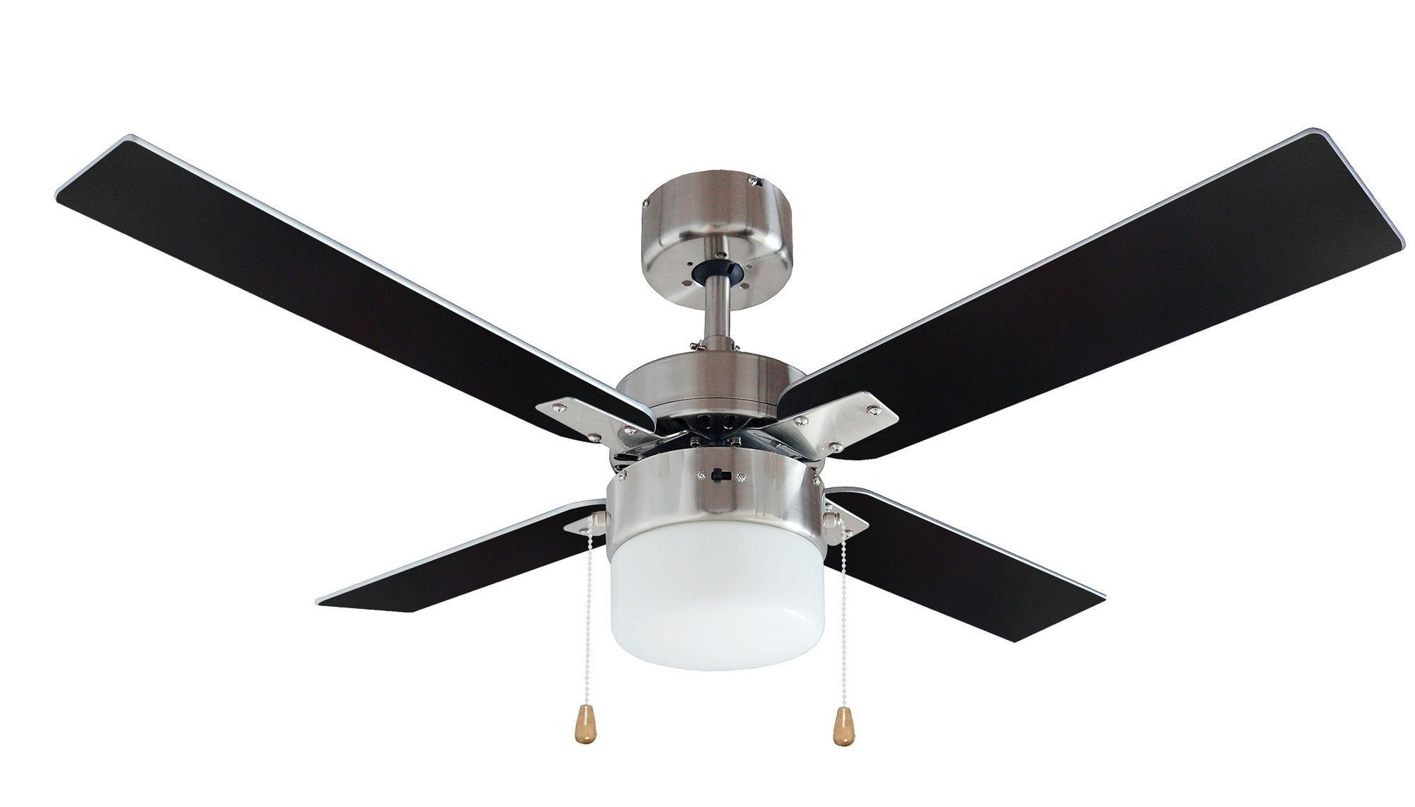 San antonio black brushed chrome effect ceiling fan light ceiling san antonio black brushed chrome effect ceiling fan light mozeypictures Gallery