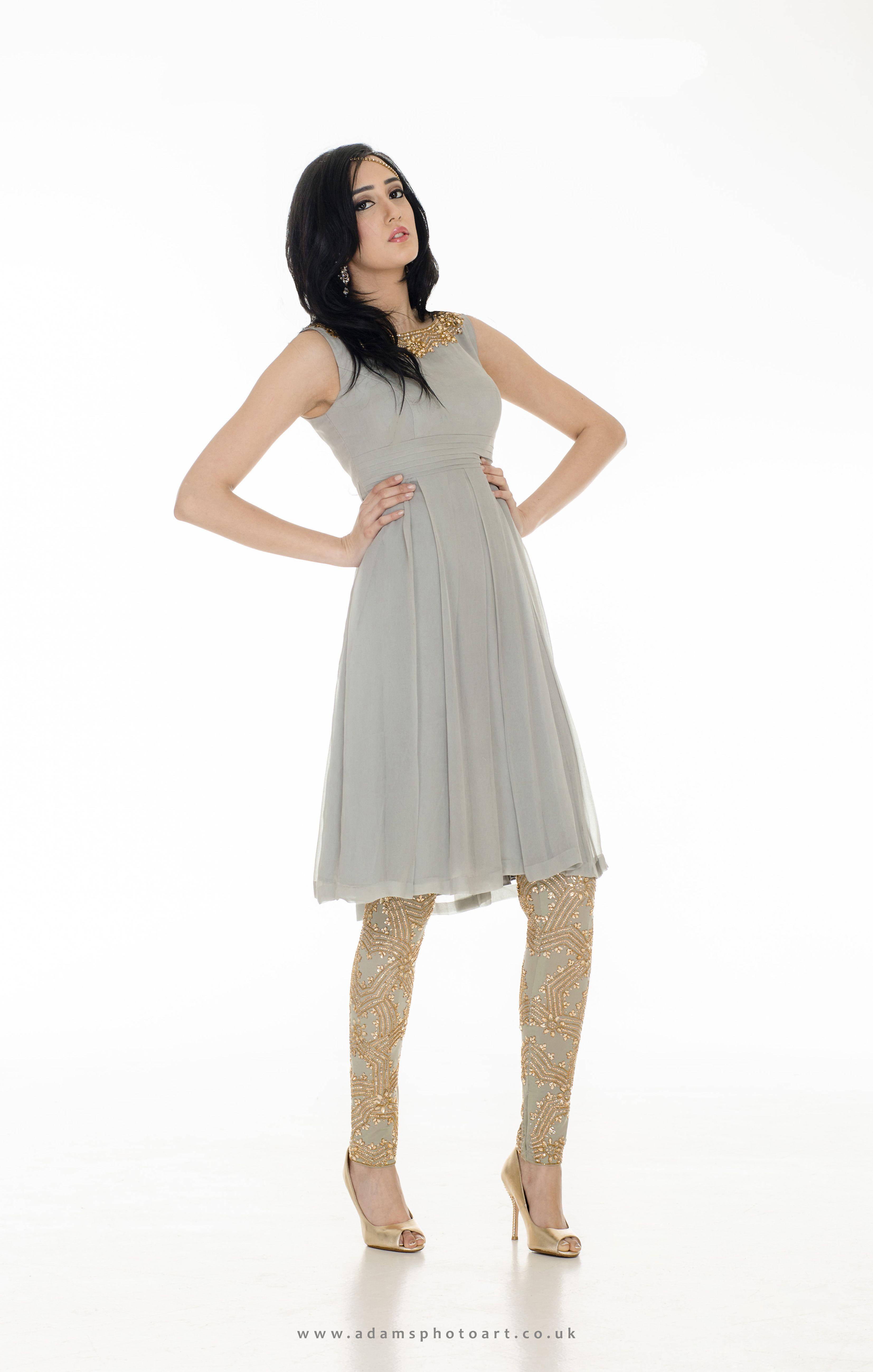 9cd76001b1ca8 Punjabi suit - Chiffon dress and embellished leggings. | Puneet ...