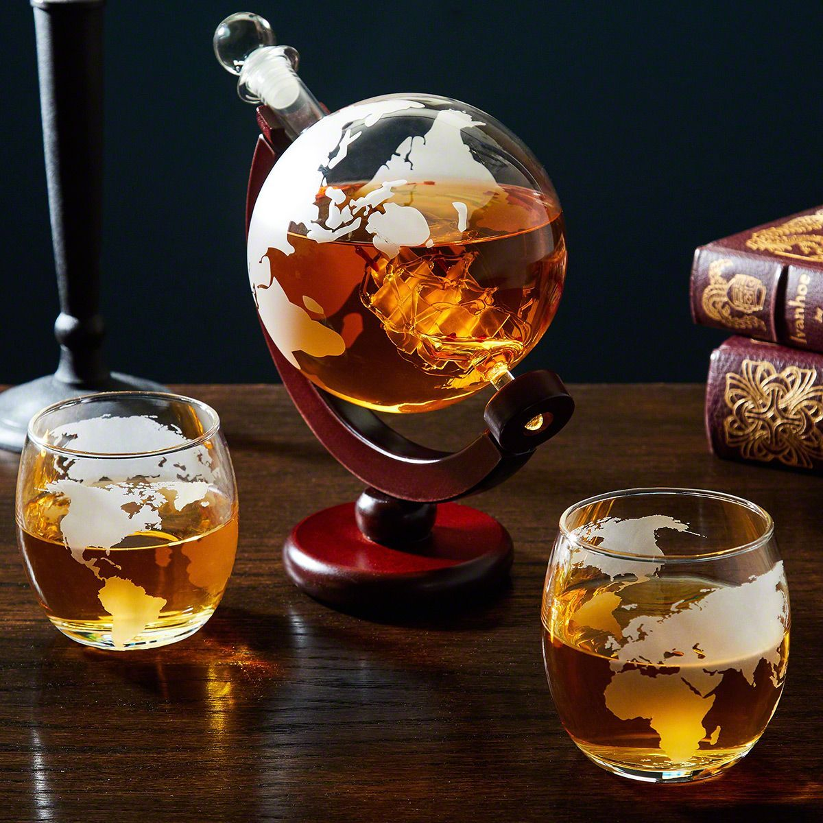 3ab25b4c8bb Larsen Whiskey Decanter Globe and Glassware Set in 2019 | Gifts ...
