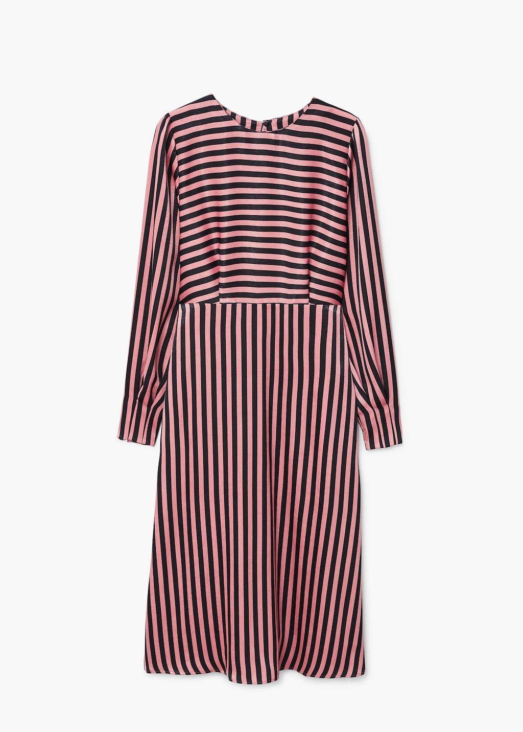 Striped Midi Dress Women Mango Usa Striped Midi Dress Midi Dress Womens Midi Dresses [ 1432 x 1024 Pixel ]