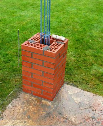Resultado de imagen para pergola de hierro frentes construccion pinterest hierro - Pilares de hierro ...