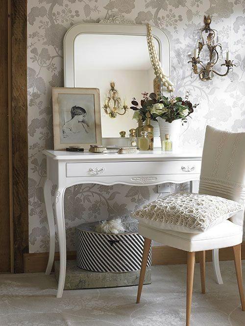 mooie witte kaptafel bedrooms pinterest shabby cottage rh pinterest com