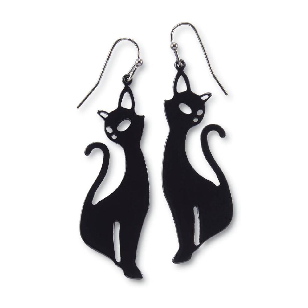 Black Cat Drop Earrings BestSelling Gifts, Clothing