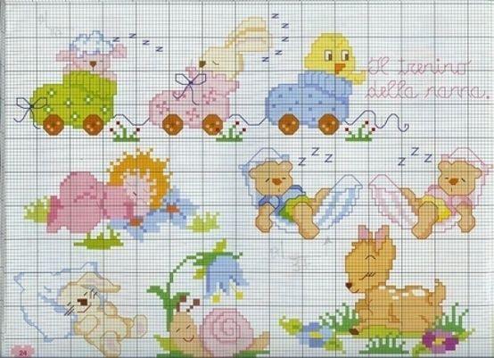Risultati immagini per bordi per lenzuolini a punto croce for Disegni punto croce per lenzuolini neonati
