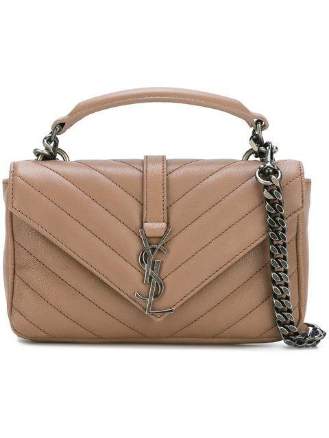 83be676a50 SAINT LAURENT Mini  Monogram Collège  Crossbody Bag.  saintlaurent  bags  shoulder  bags  hand bags  leather  crossbody  lining