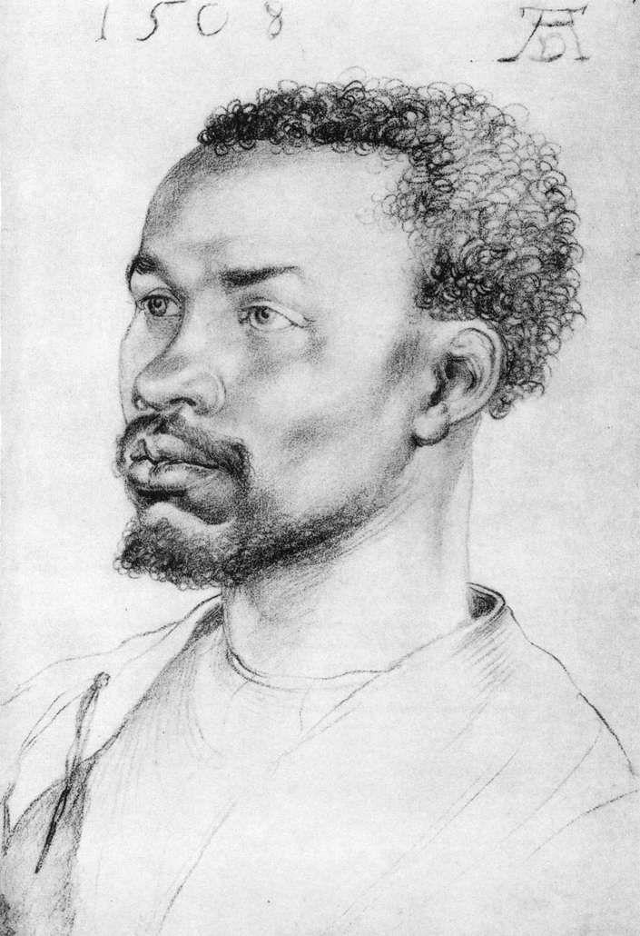 Albrecht DÜRER,  Head of a Negro,  1508 -  Charcoal, 320 x 218 mm Graphische Sammlung Albertina, Vienna