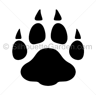 Leopard Paw Print Silhouette Paw Print Silhouette Clip Art Paw Similar design products to leopard print paw png, sublimation png , dog paw png. leopard paw print silhouette paw