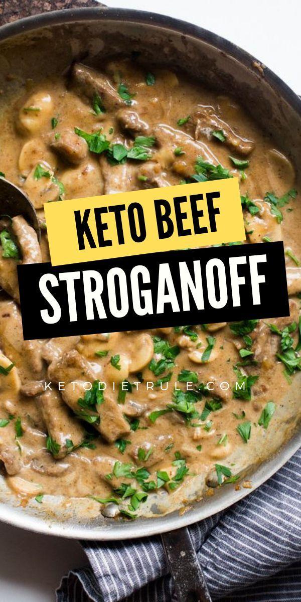Beef Stroganoff Recipe With Sour Cream Gluten Free Keto Diet Rule Recipe Keto Beef Recipes Keto Recipes Dinner Keto Diet Recipes
