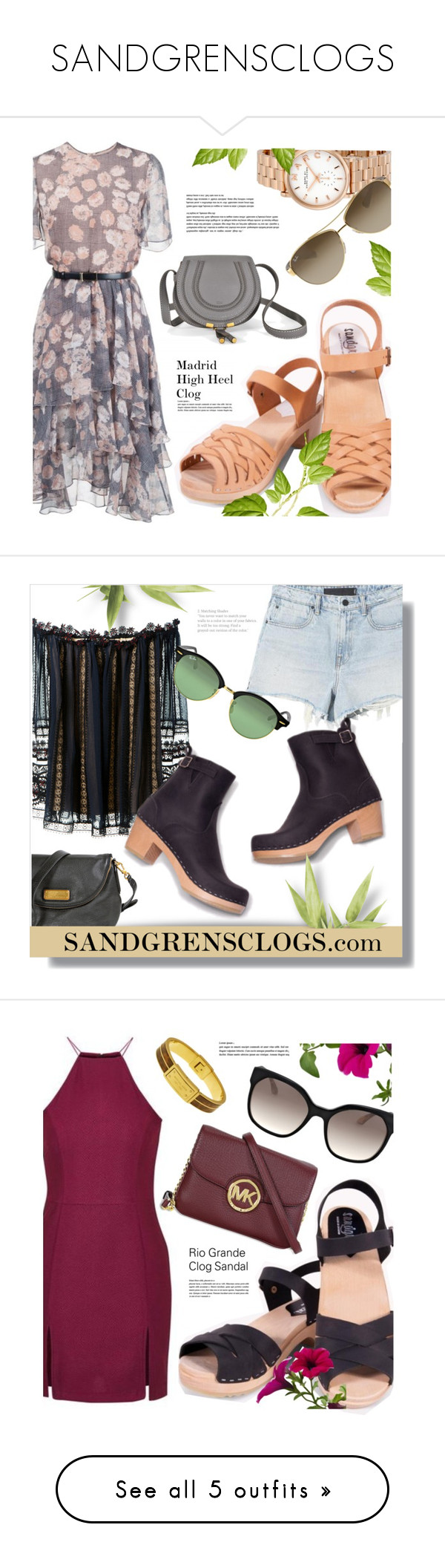 """""""SANDGRENSCLOGS"""" by monmondefou ❤ liked on Polyvore featuring Jason Wu, Marc by Marc Jacobs, Ray-Ban, Sandgrensclogs, Chloé, Topshop, Prada, Chicwish, Cédric Charlier and Monsoon"""