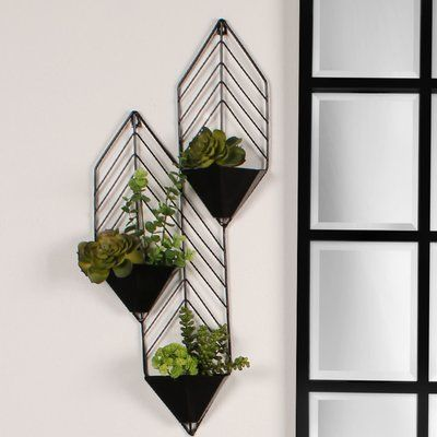 Tain Iron Wall Planter Wayfair Iron Planter Tain Wall Wayfair Metal Wall Planters Wall Planter Ceramic Wall Planters