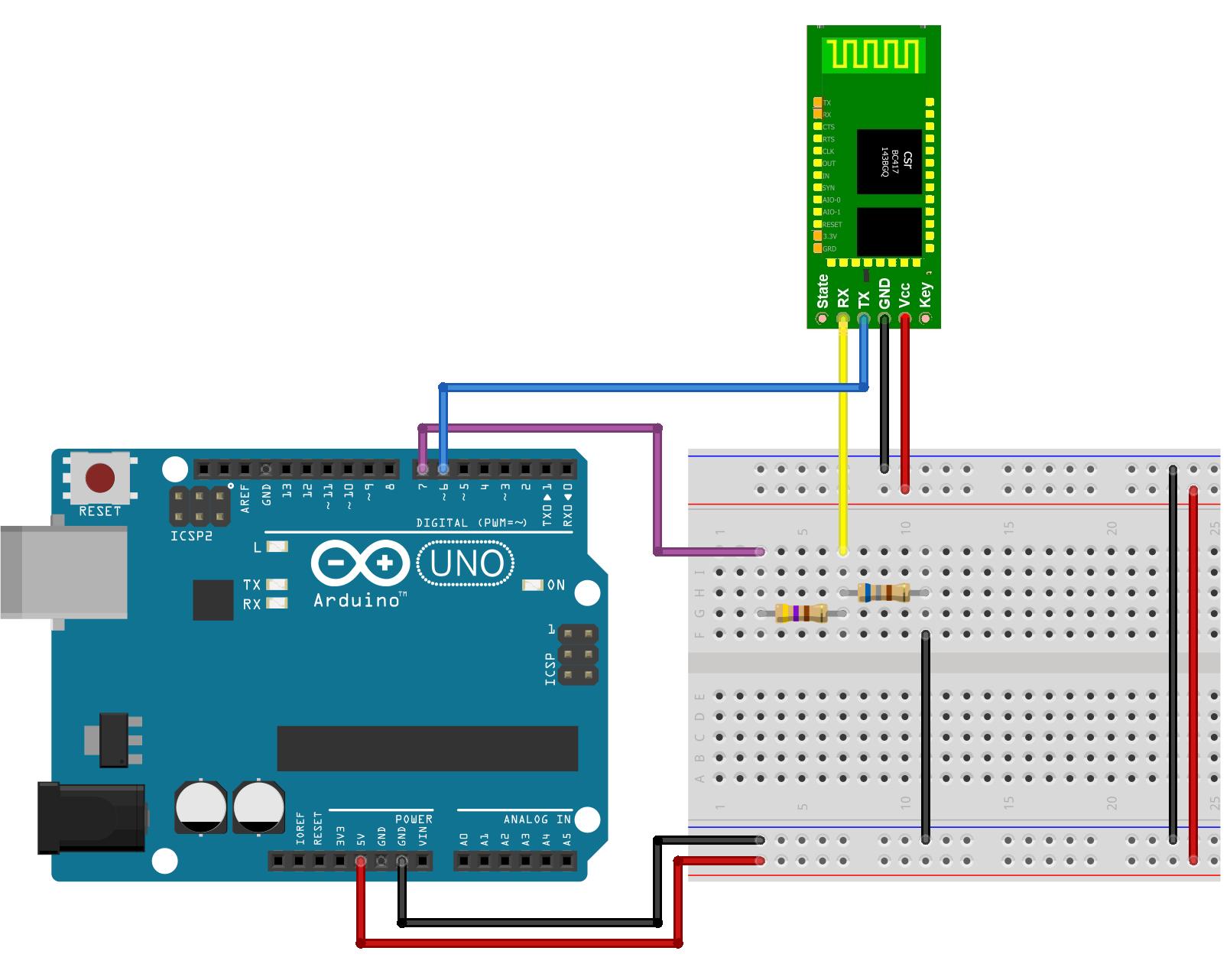 circuito arduino configura o hc 06 electronics simple arduino rh pinterest com