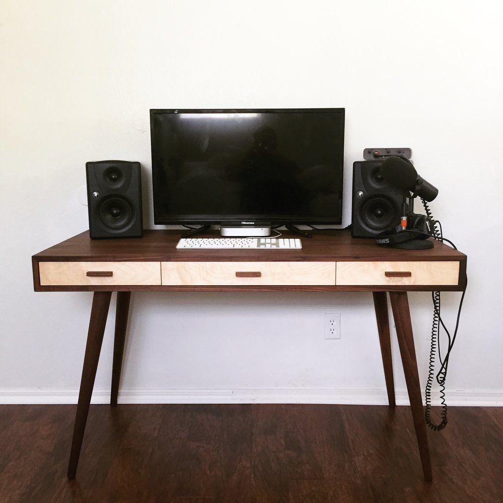 diy mid century modern desk modern builds diy in 2019 rh pinterest com