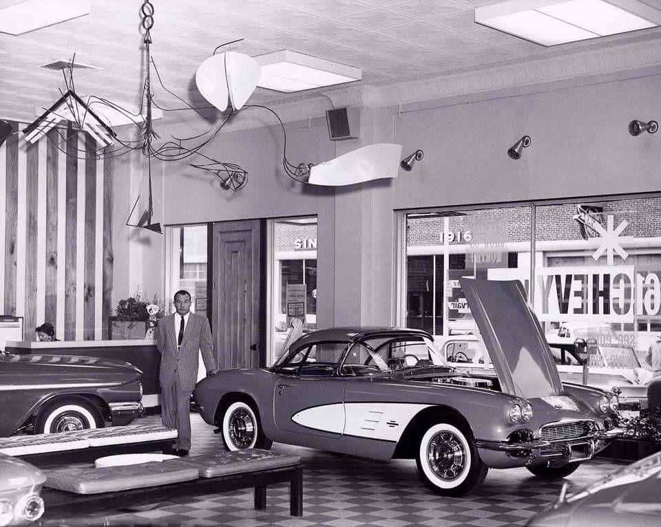 Those Old Cars.... Vintage corvette, Car dealership