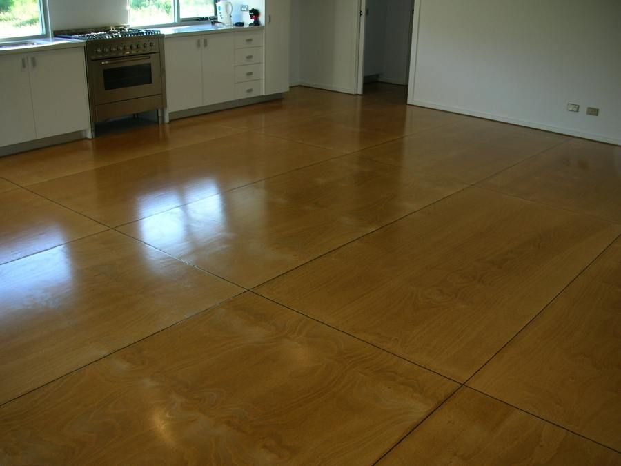 Plywood floor... polished ply floor by totallyfloored.com ...